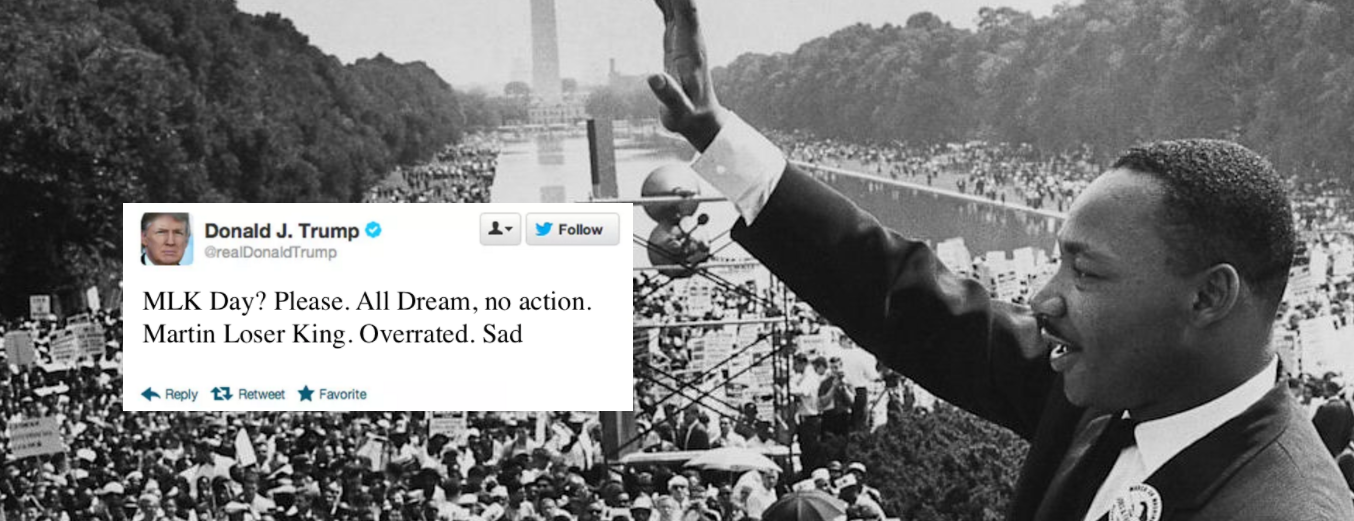 Trump and Martin Luther King